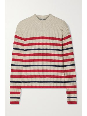 Paradis Perdus + net sustain côme striped recycled ribbed-knit sweater