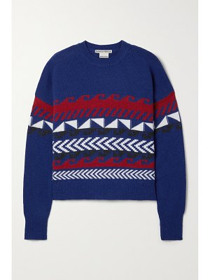 Paradis Perdus + net sustain silas oversized intarsia recycled wool-blend sweater