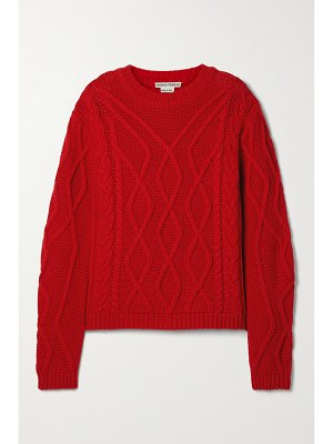 Paradis Perdus + net sustain valere recycled cable-knit sweater