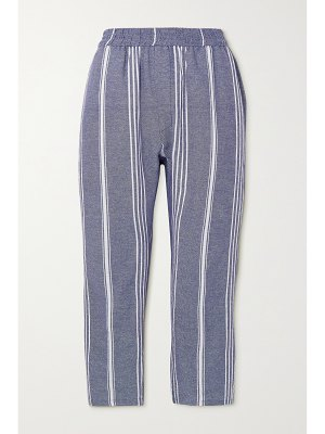 Paradised + net sustain striped cotton tapered pants