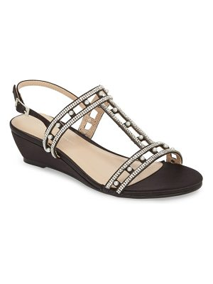 PARADOX LONDON PINK kamara embellished wedge sandal