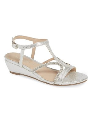 PARADOX LONDON PINK wynita crystal embellished wedge sandal