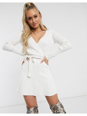 Parallel Lines lightweight wrap cardigan two-piece-cream