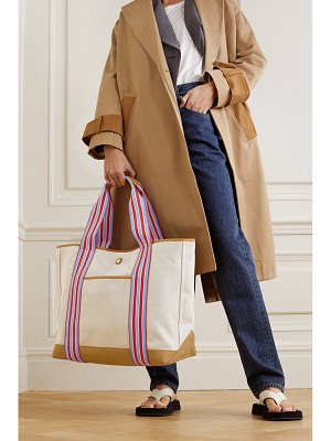 Paravel cabana leather and canvas tote