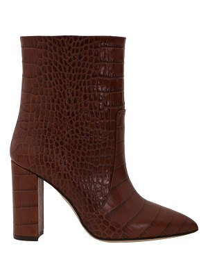 Paris Texas 100mm Mock Croco Pull-On Seamed Ankle Boots
