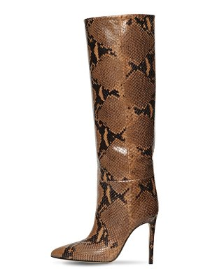 Paris Texas 110mm tall snake embossed leather boots