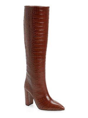 Paris Texas croc embossed over the knee boot