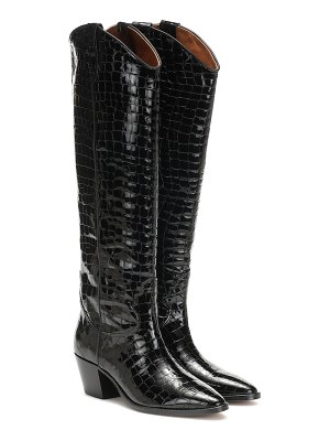 Paris Texas embossed patent leather boots