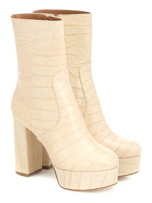 Paris Texas exclusive to mytheresa – cocco croc-effect leather ankle boots