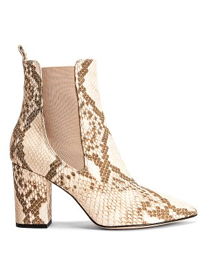 Paris Texas faded python print ankle boot