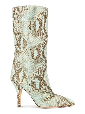 Paris Texas faded python print midi boot