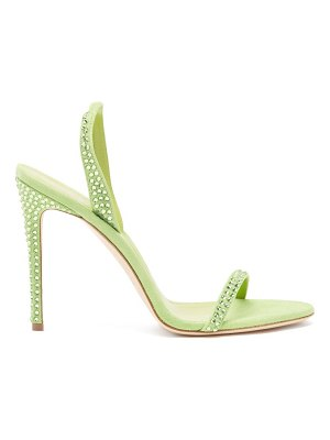 Paris Texas holly crystal-embellished suede sandals