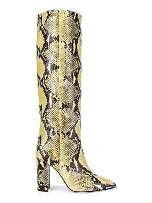 Paris Texas knee high python print boot