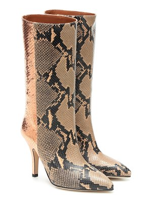 Paris Texas metallic snake-effect leather boots