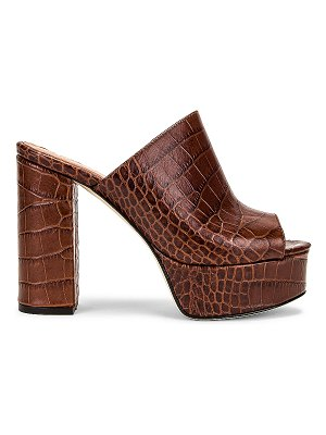 Paris Texas moc croco platform mule