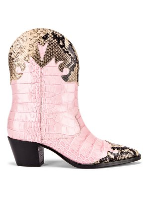 Paris Texas python print and moc croco texano boot