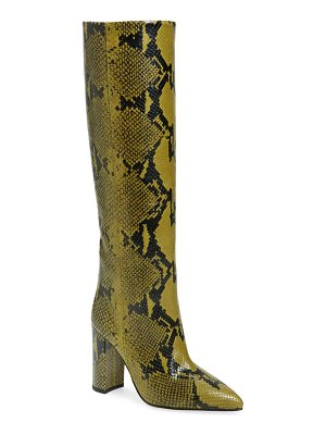 Paris Texas python print block heel boot