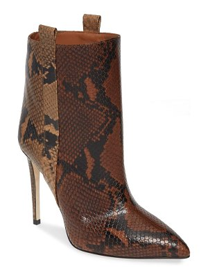 Paris Texas snake embossed leather bootie