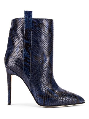 Paris Texas snake print ankle boot