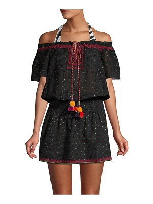 Parker Beach Printed Off-The-Shoulder Cover-Up Dress