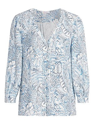 Parker beverly printed silk blouse