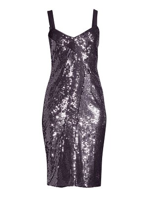 Parker Black beau combo sequin sheath dress