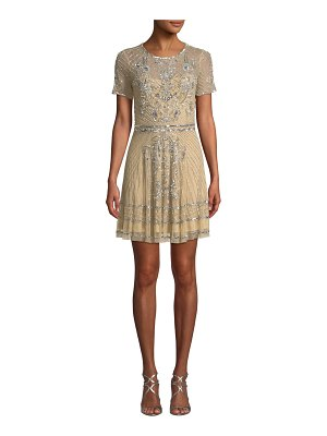 Parker Black Daisy Embellished Mini Dress