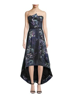 Parker Black Estelle Strapless Floral High-Low Dress