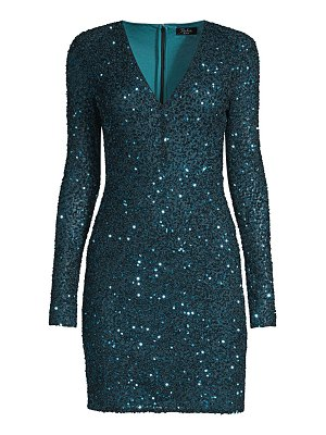 Parker Black malaga sequin v-neck bodycon dress