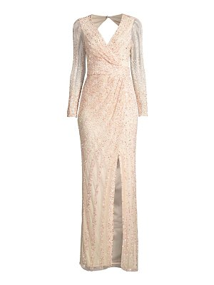 Parker Black malika hand-beaded sequin gown