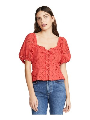 Parker chica combo blouse