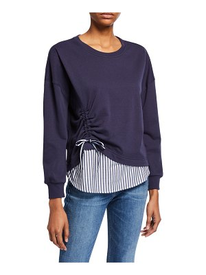 Parker Darce Ruched Combo Sweatshirt
