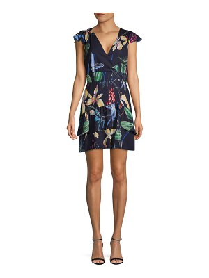 Parker Floral-Print V-Neck Mini Dress