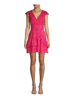 Parker Floral Ruffle Mini Dress