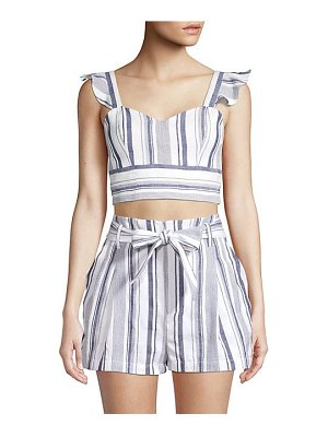 Parker ibiza striped crop top