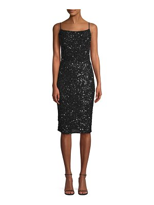 Parker Leighton Sequin Spaghetti Strap Dress