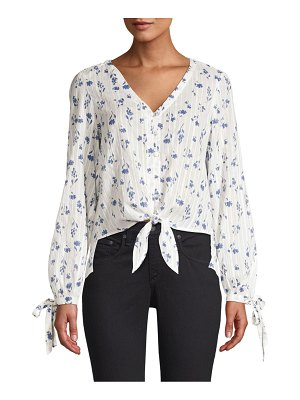 Parker Payton Illusion Stripe Floral Blouse