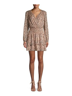 Parker Printed Wrap Mini Dress