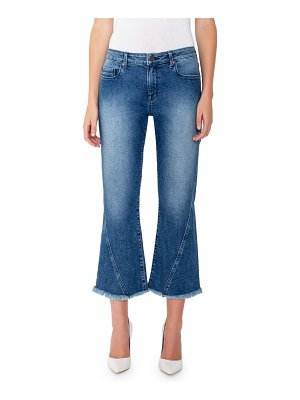 PARKER SMITH Harper Mid-Rise Cropped Flare Jeans