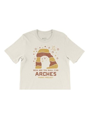 Parks Project arches seek & find boxy crop graphic tee