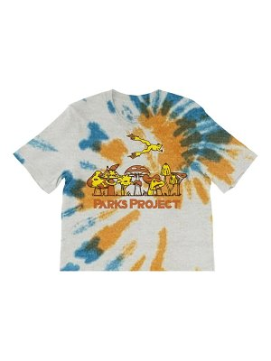 Parks Project leaping frog tie dye boxy graphic tee