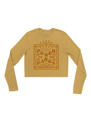 Parks Project power to the parks long sleeve graphic tee