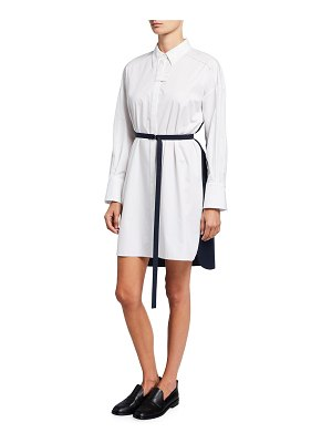 PARTOW Helena Two-Tone Belted Shirtdress