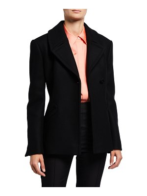 PARTOW Malone One-Button Wool Pea Coat