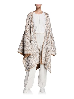 PARTOW Marko Wool-Cashmere Handpainted Poncho
