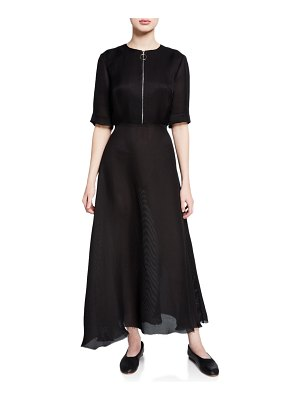 PARTOW Nadira Zip-Front Henley Maxi Dress