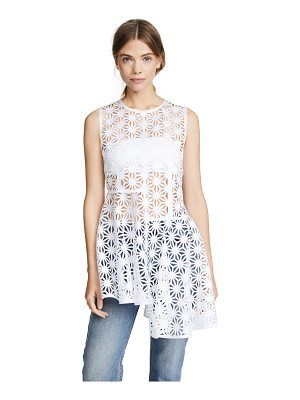 PASKAL sleeveless asymmetric laser cut top