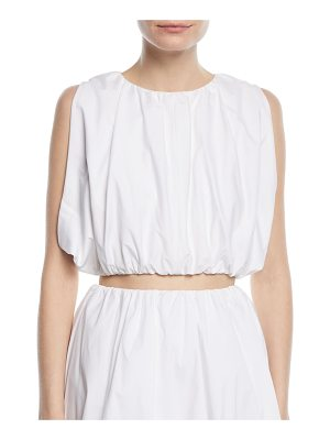 PASKAL Sleeveless Puffy Cotton Crop Top
