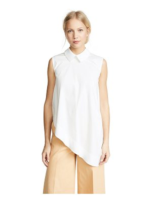PASKAL sleeveless shirt with asymmetric hem