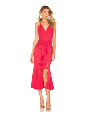 PatBo bo ruffle midi dress